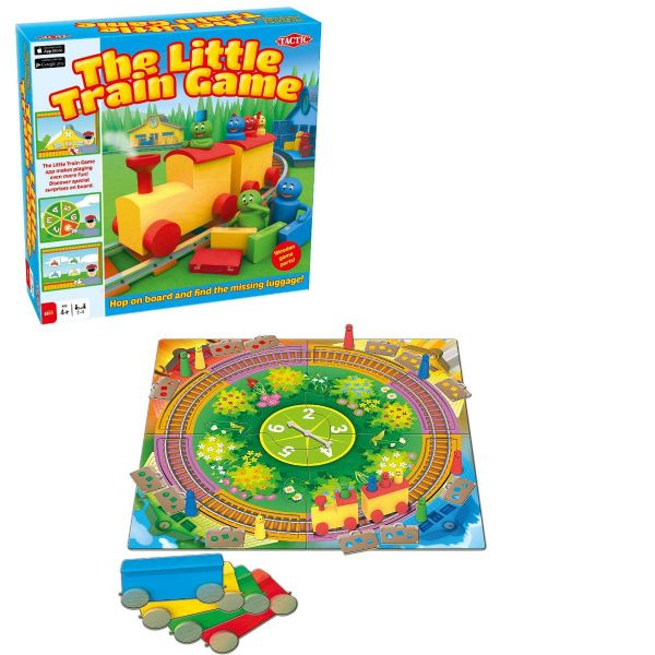 The Little Train Game Family Kids Board Game By Tactic Includes Wooden Parts